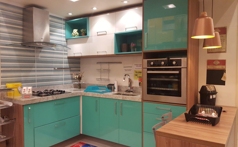 Cozinha planejada verde com branco na leroy merlin - Baneras pequenas leroy merlin ...
