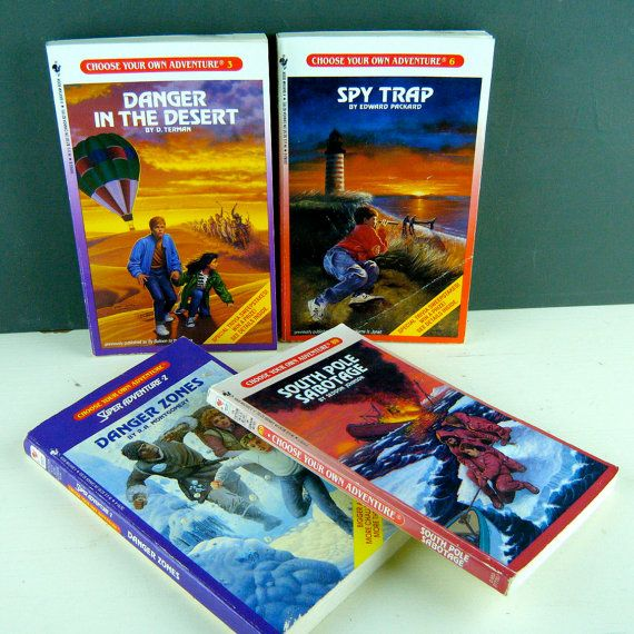 Vintage 1980s Choose Your Own Adventure Books Set Of 4 Pre Teen
