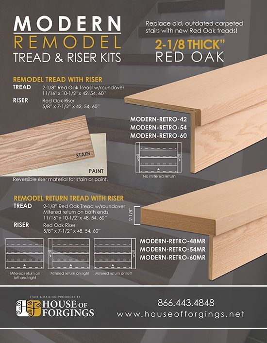 Best Introducing Modern Remodel Tread Riser Kits With 640 x 480