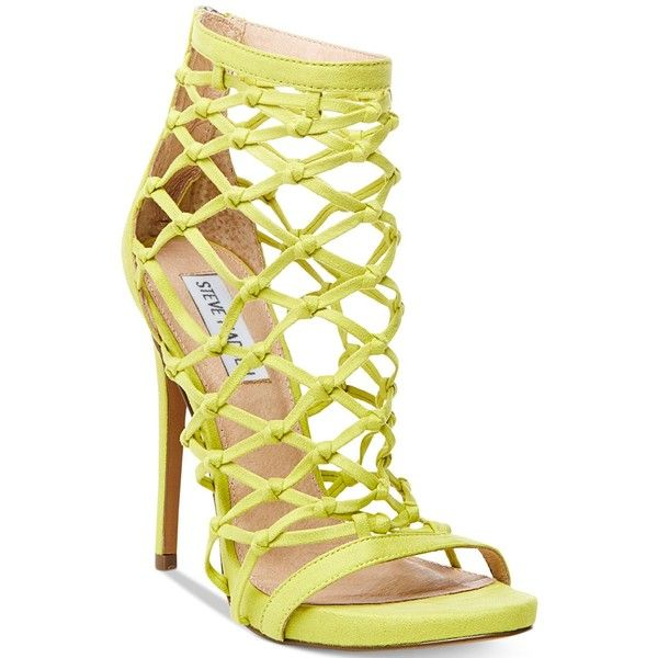 Steve Madden Women's Ursula Caged Dress Sandals ($99) ❤ liked on Polyvore  featuring shoes