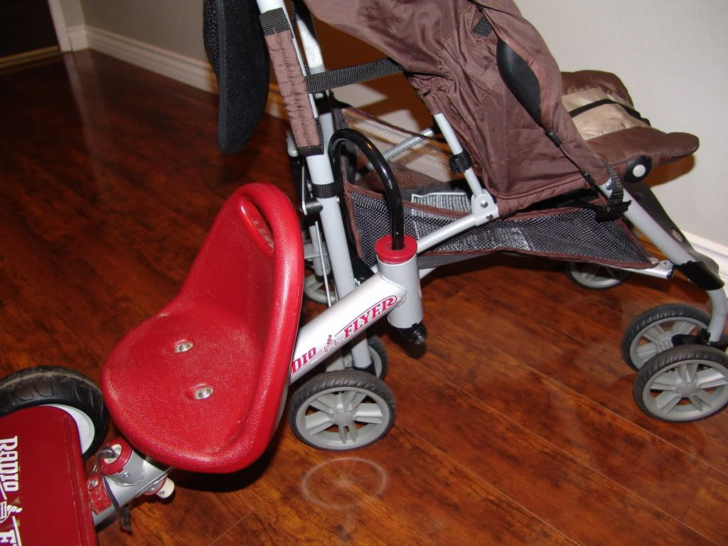 DIY Buggy Board Type Stroller Attachment Convert Single