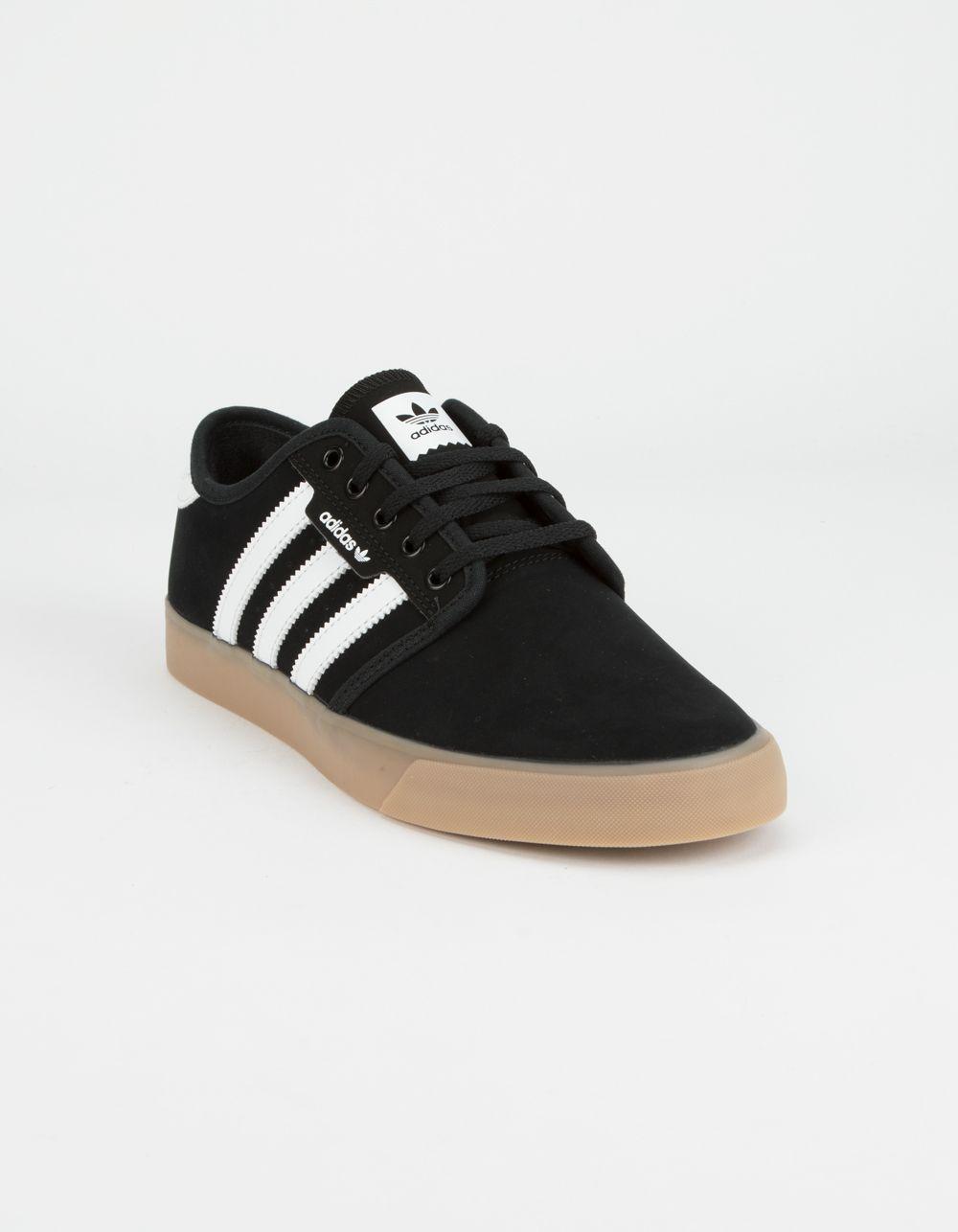 radio Presa pubertad  ADIDAS Seeley Core Black & Gum Shoes - BLACK - 347755100 | Shoes, Black  gums, Black shoes