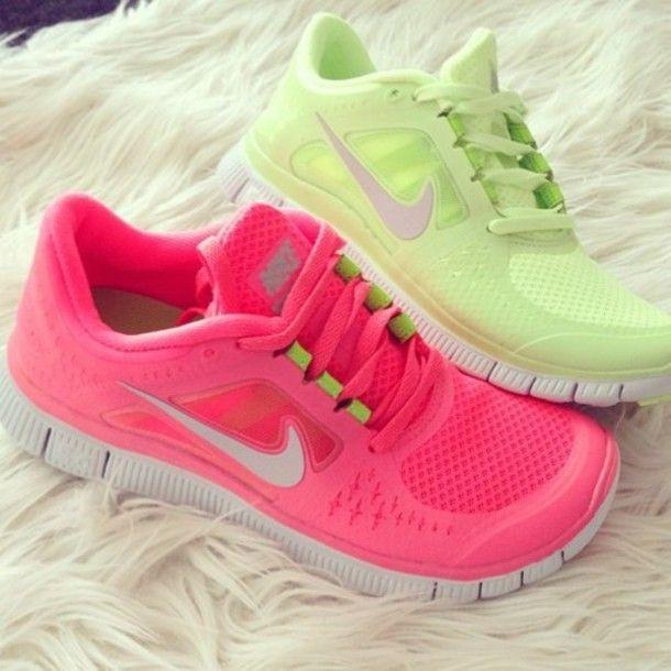007022f6d3cdd shoes pink green free runs nike nike free run white running nike running  shoes pink shoes