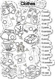 English teaching worksheets: Clothes | Engelsk | Pinterest ...