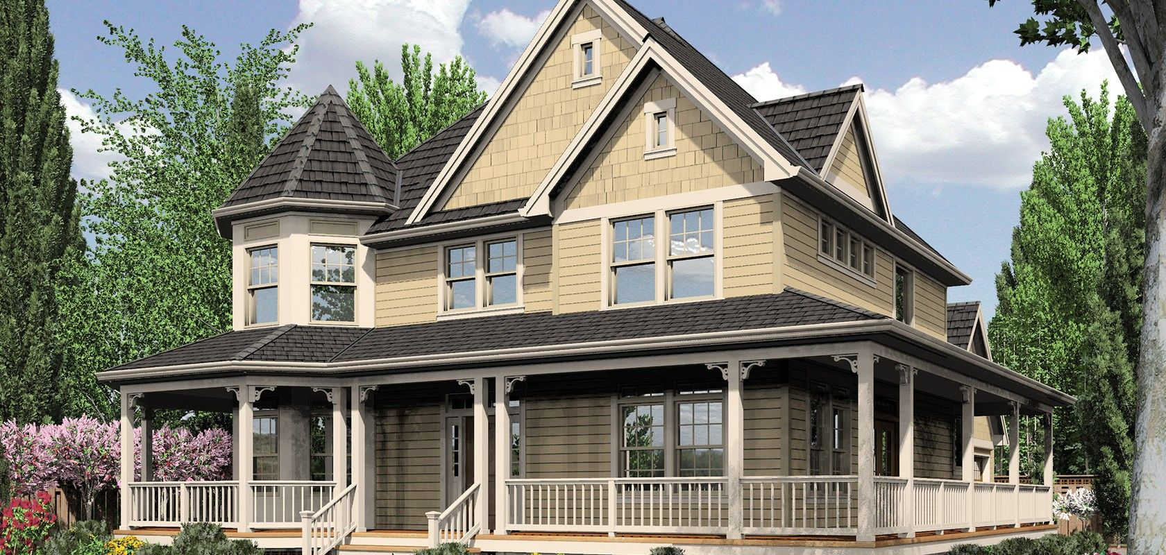 Mascord House Plan 2229A - The Stratford | Victorian house ...