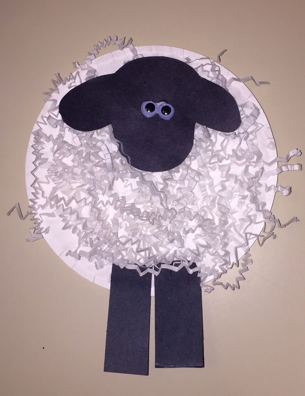 Farm Animal Unit Paper Plate Sheep Using T Wrap Shredded Paper