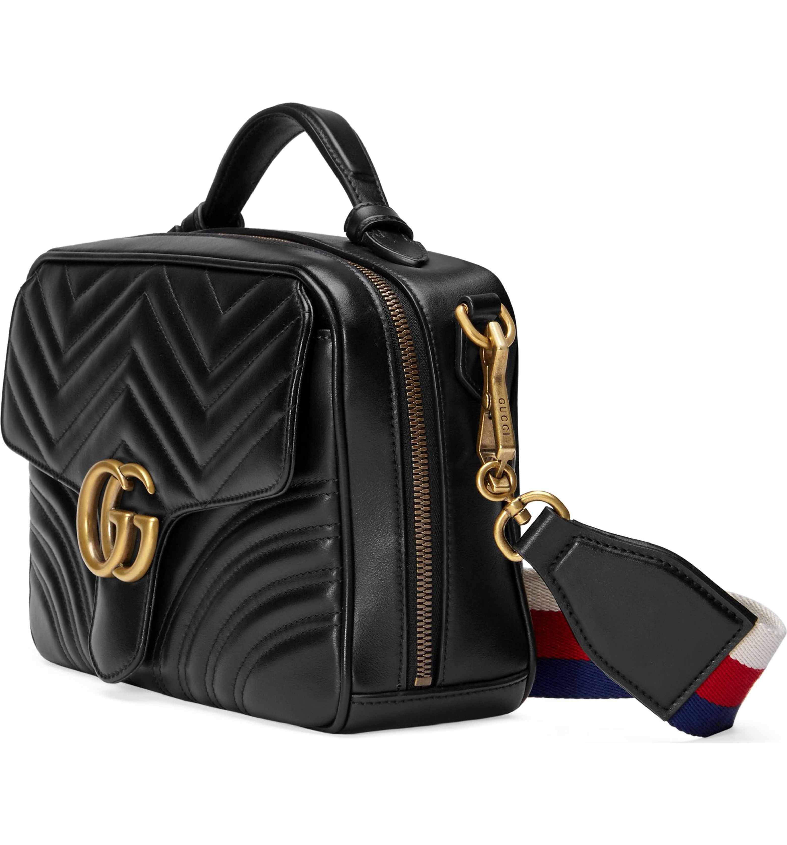 f799e18912ec1c Main Image - Gucci Small GG Marmont 2.0 Matelassé Leather Camera Bag with  Webbed Strap