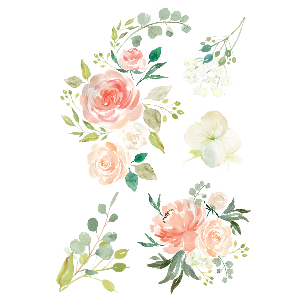 latest (1000×1000) Watercolor flower vector, Watercolor