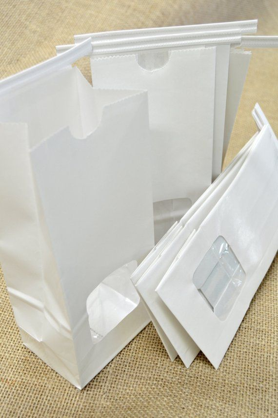 1740fdd95f QTY 25 Small Half Pound White Paper Lined Tin Tie Bags with Window - Food  Safe - 3.375 X 2.5 X 7.75