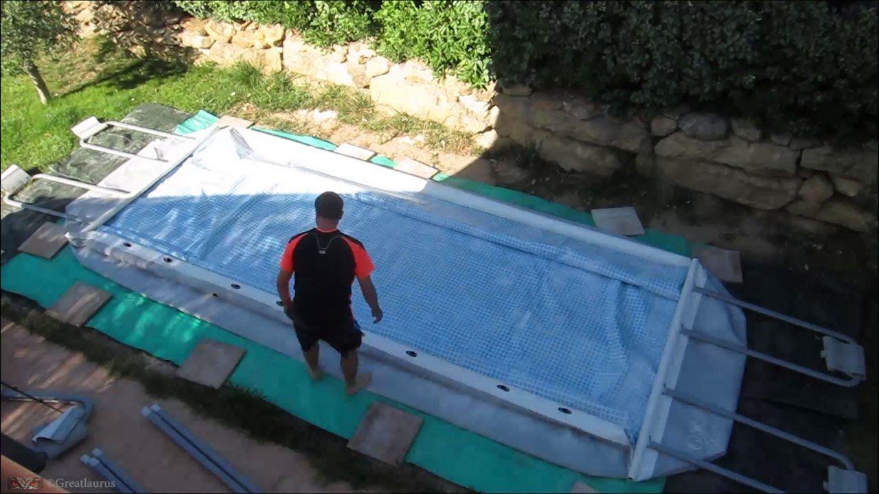 Comment Monter Une Piscine Hors Sol montage de ma piscine intex ultra frame rectangulaire