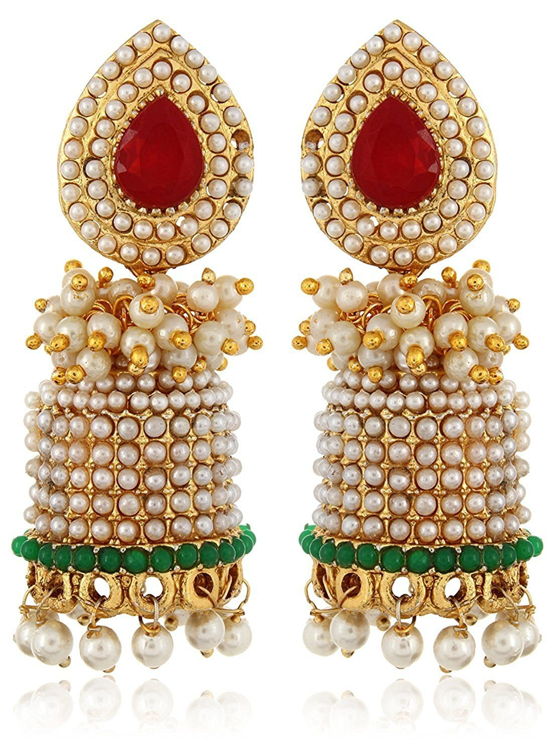 851047b8ba (80% off ) Shining Diva Stylish Fancy Party Wear Traditional Pearl Jhumka /  Jhumki Earrings For Girls and Women