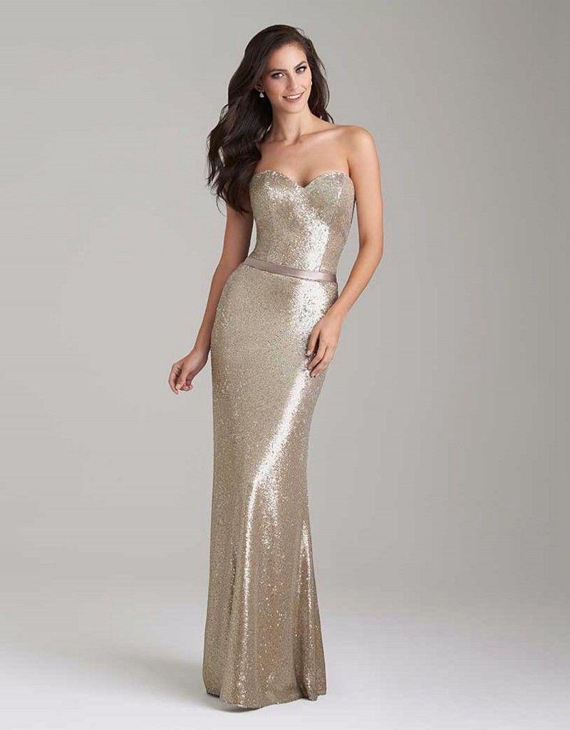 Gold bridesmaid dresses long mermaid
