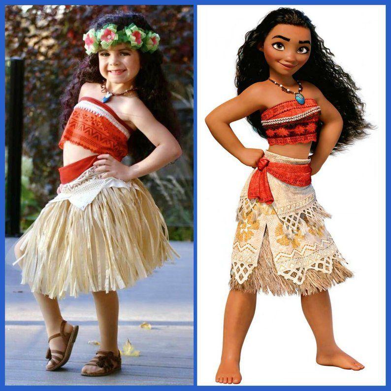 Moana Traje Disney Moana Vestido Moana Traje Niñas Niño
