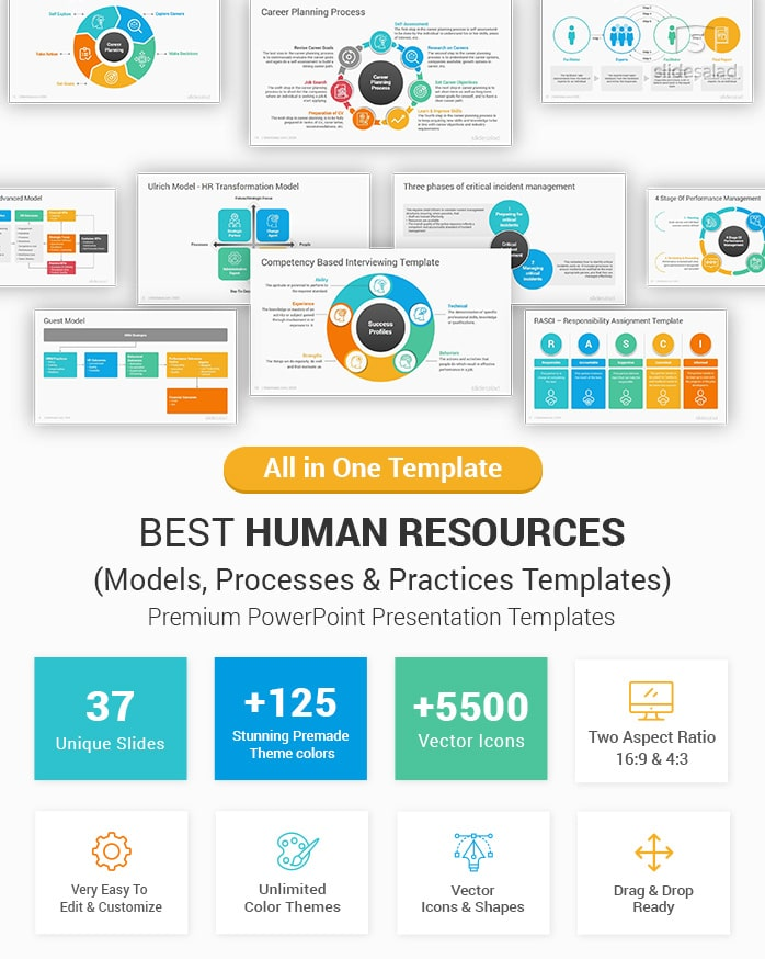 Best Human Resources Models And Practices Powerpoint Templates Slidesalad Communication Plan Template Powerpoint Powerpoint Slide Templates