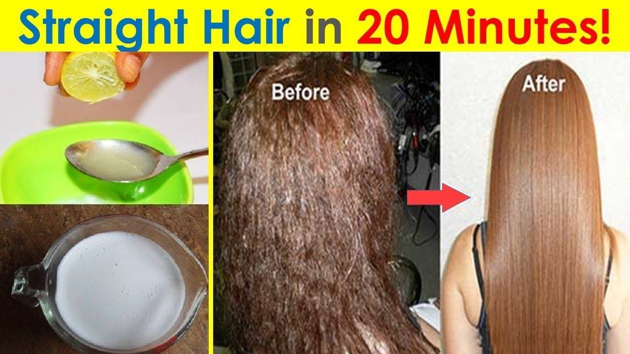 In 20 Minutes Straighten Hair Permanently At Home Natural Way To Strai In 2020 Hair Smoothening Hair Straightener Hair