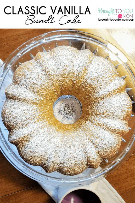 Classic Vanilla Bundt Cake Recipe -   17 cake Bundt parties ideas