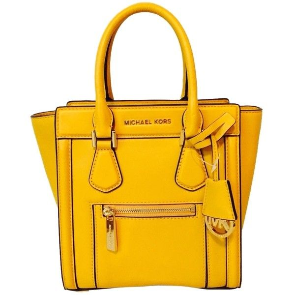 bf9492844b62 ... top quality pre owned michael kors colette medium leather messenger  yellow sun 290 cbcb7 ea16a