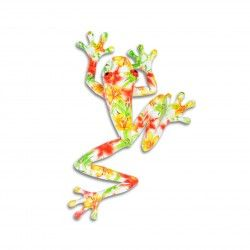 Decorative Flower Design Tree Frog Ornament In Resin Can Be Wall Mounted Garden  Ornaments U0026 Accessories