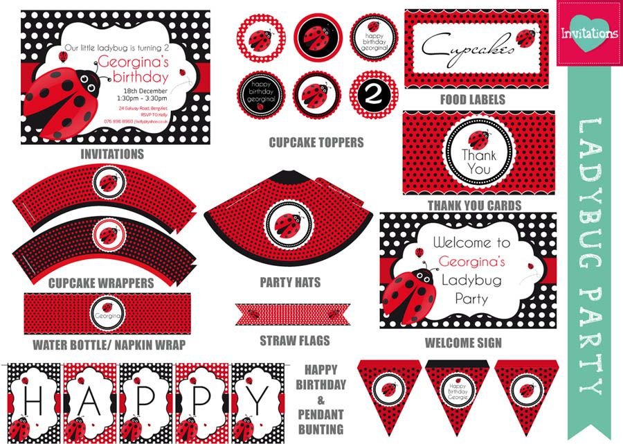 Ladybug Party Printables Free