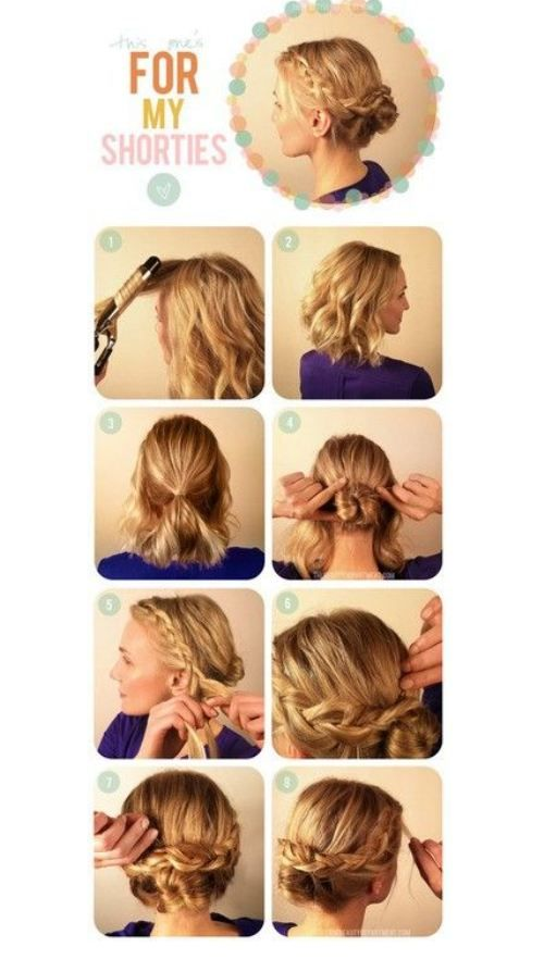 Cute Easy Hairstyles For Short Hair Endearing So Cute And Looks Easy To Do Have To Try Hair Inspiration