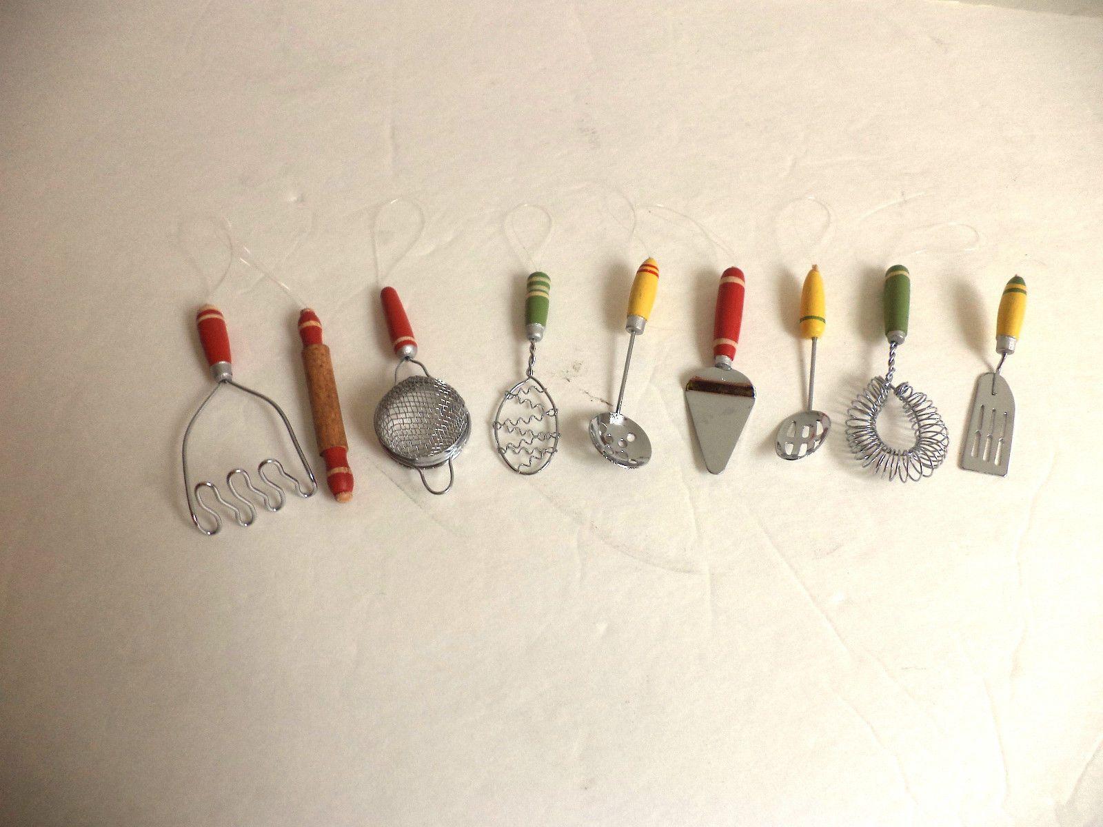 Miniature Kitchen Utensils Christmas Ornaments Wood ...