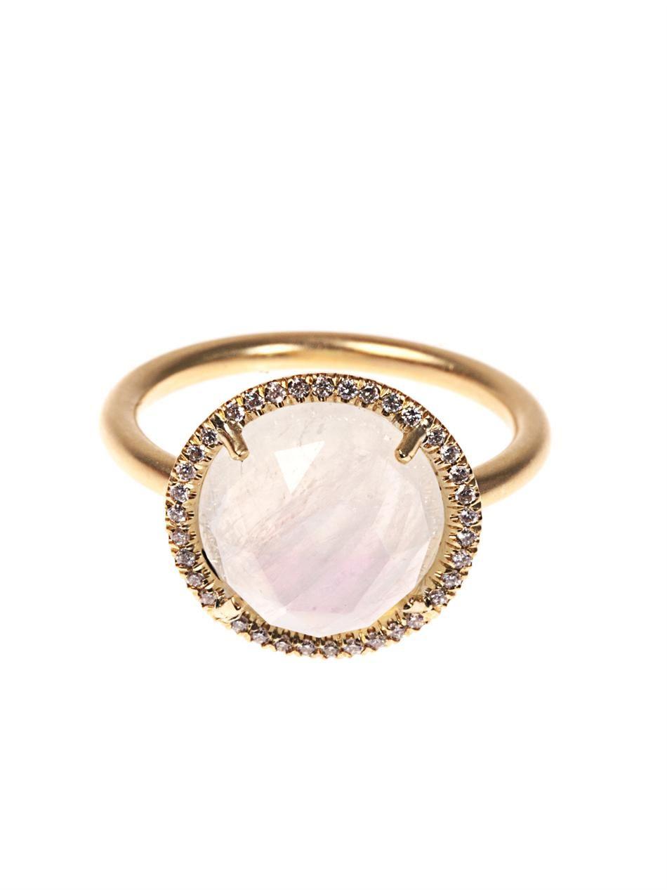 Irene Neuwirth Rainbow moonstone & yellow-gold ring N2mp8Vn