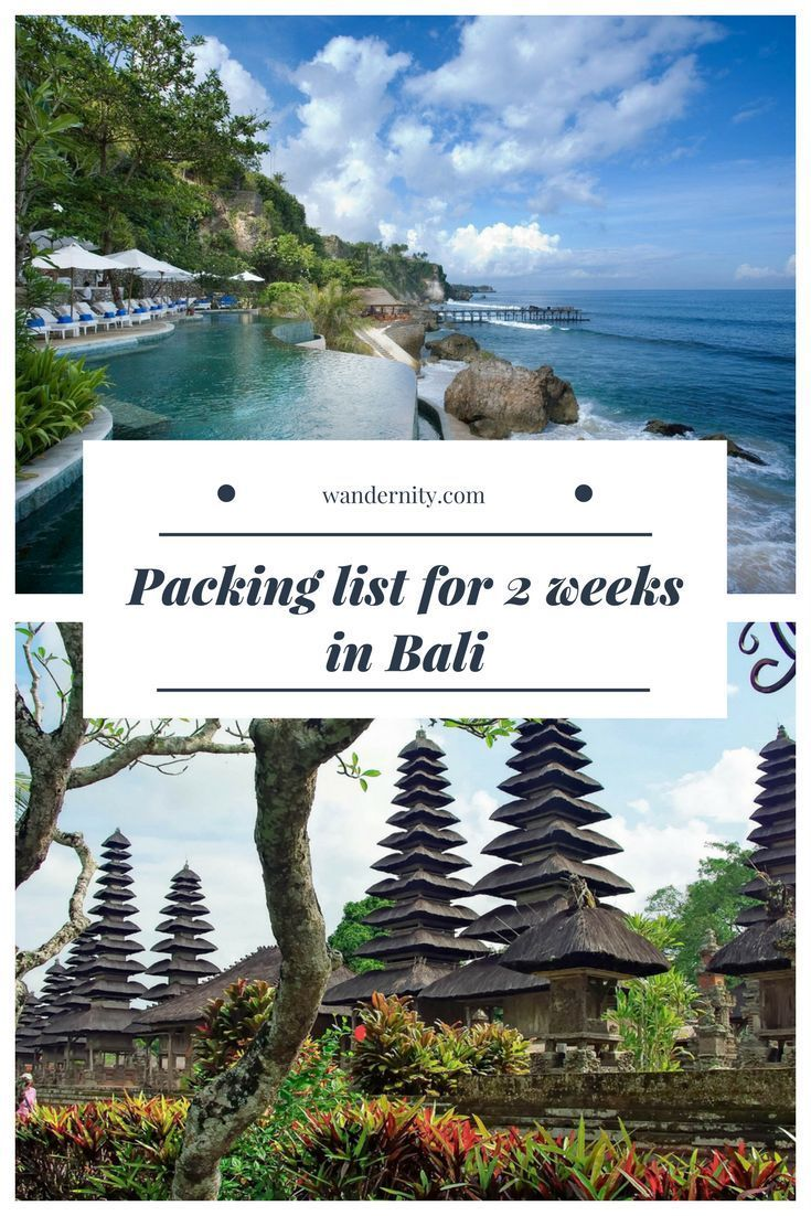 Backpacking Bali Packing List For 2 Weeks In Indonesia