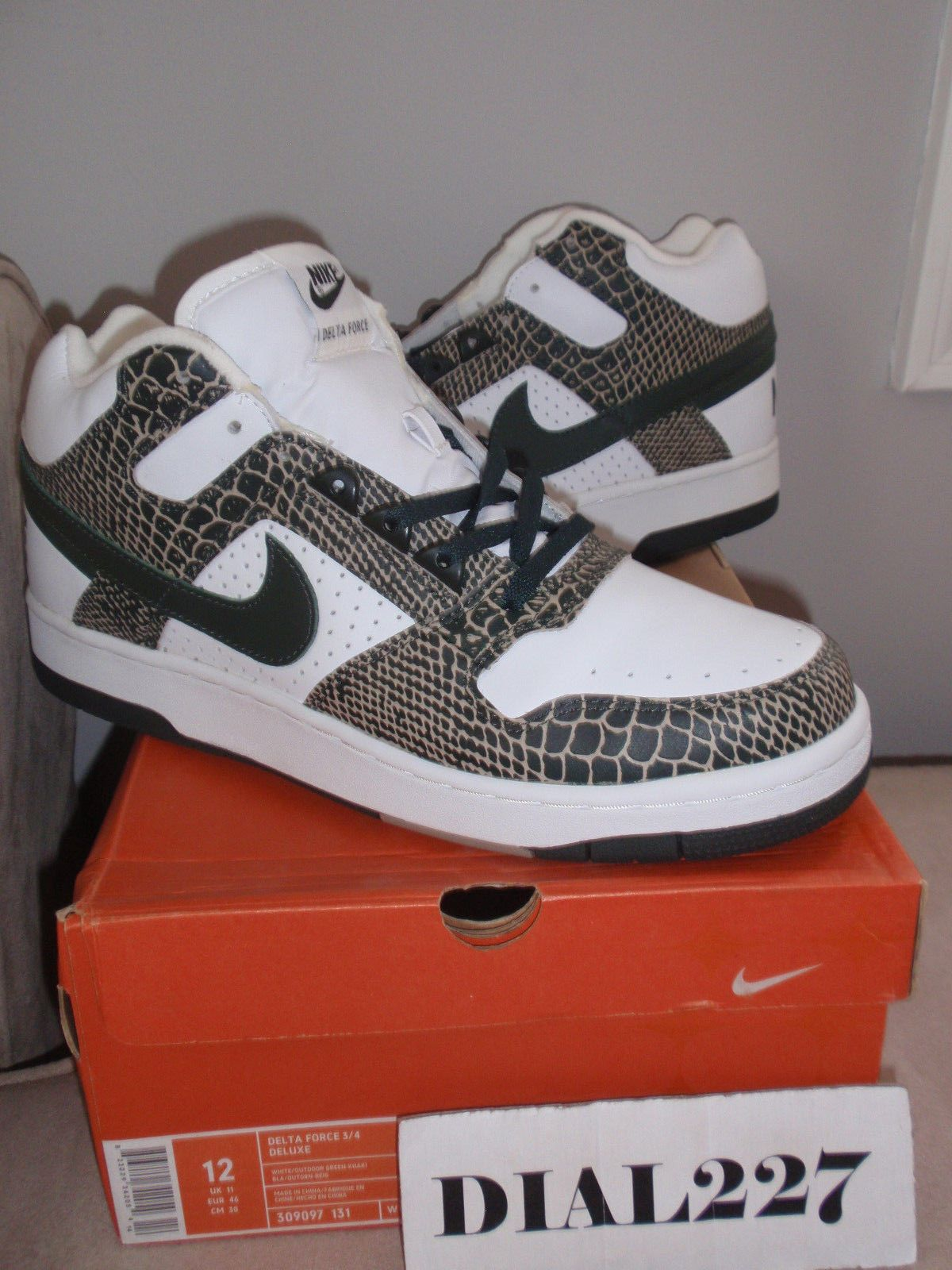 Nike Delta Force 3/4 Deluxe Snakeskin 96 2004 Release Deadstock size 12