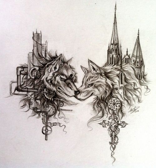 9611d500d0dd0 steampunk and gothic wolves by Katy Lipscomb | Full Steam Ahead ...