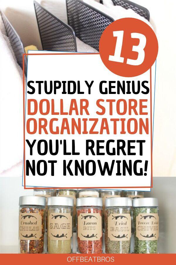 13 Creative Dollar Store Organization Hacks You'll Love