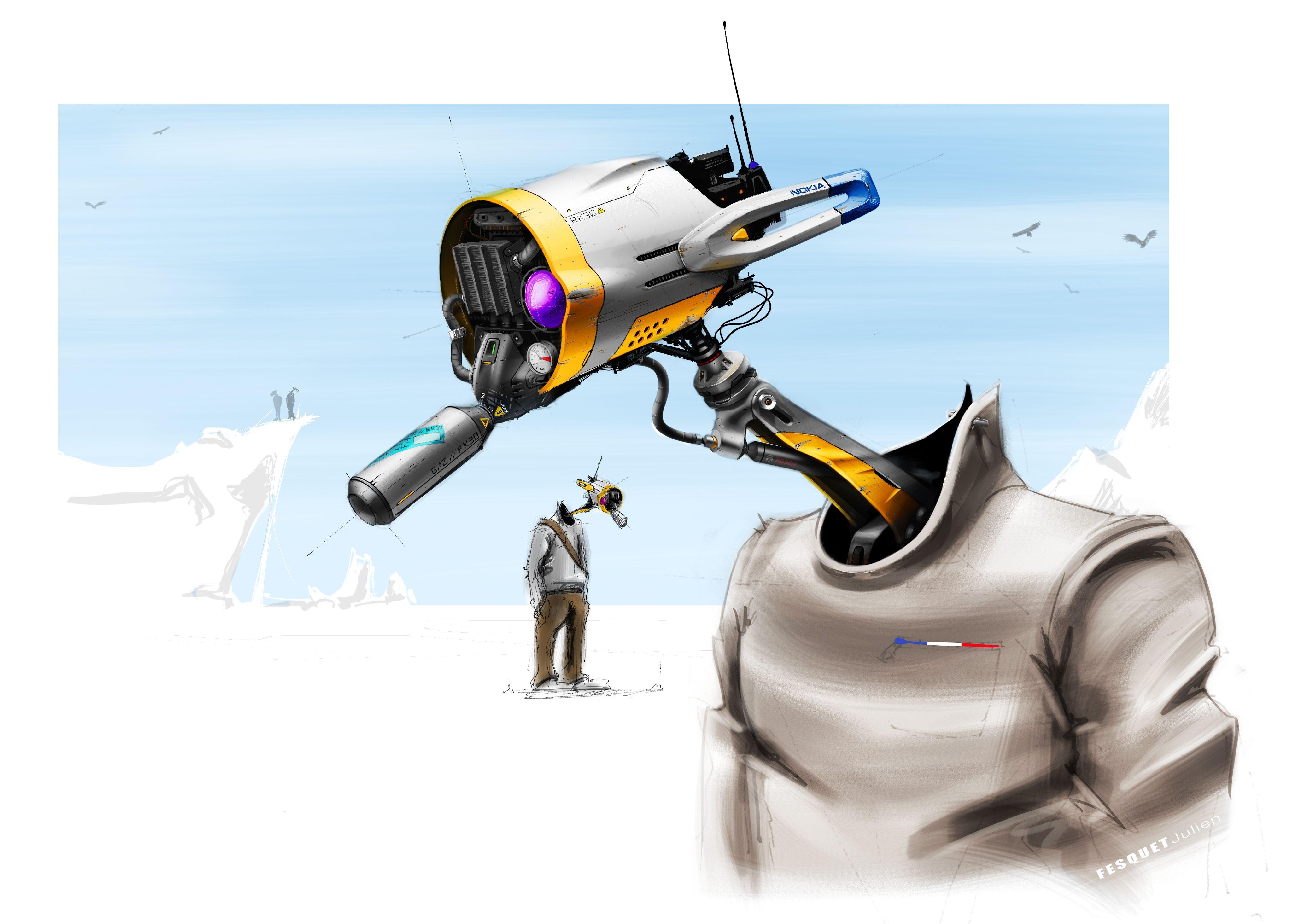ice robot render by julien fesquet isd my personal work pinterest