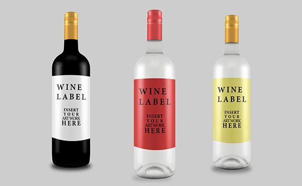 Free-wine-bottle-mockup-for-graphic-designers Uvano Pinterest