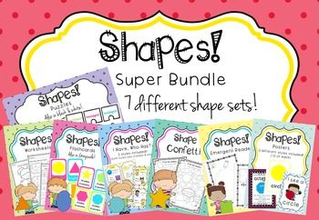 SHAPES Bundle. My Shapes Bundle includes all eight of my shape sets. That's over 200 pages of resources dedicated to learning about shapes!