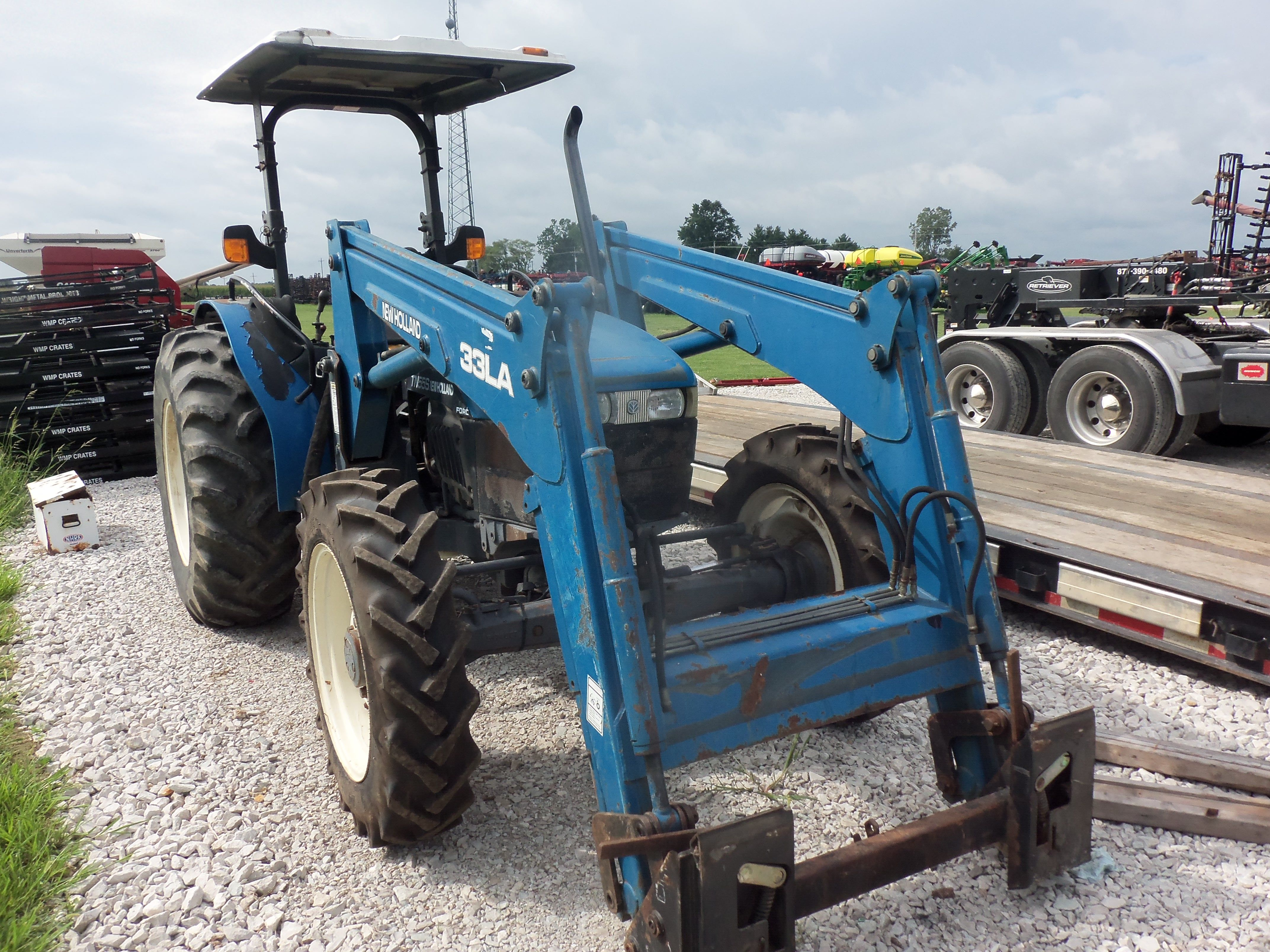 Used New HOlland TN55S with 33LA loader