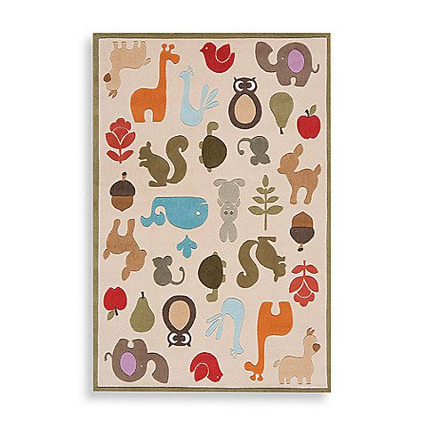 Momeni Lil Mo Whimsy Lmj 2 Area Rug In Ivory Animal Rug Kids Area Rugs Childrens Rugs