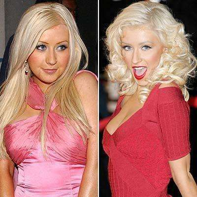 Celebrity Nose Jobs Before And After Nose Job Celebrities Christina Aguilera