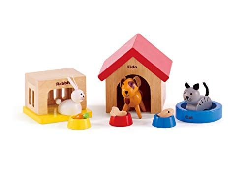 Family Pets Wooden Dollhouse Animal Set by Hape