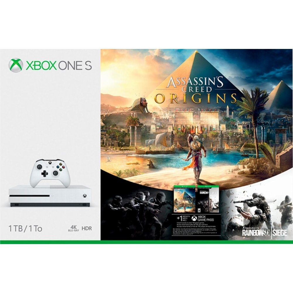 Assassin S Creed Origins 1tb Xbox One S Bundle White Xbox One