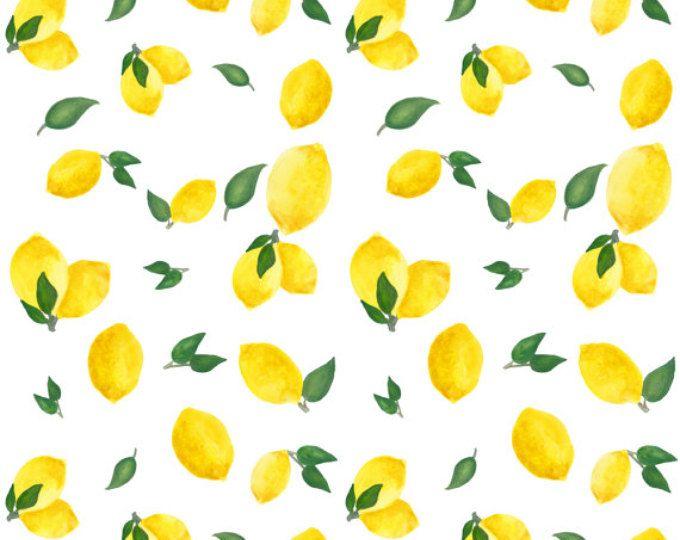 104b91f9c Watercolor Lemon Fabric - Watercolor Lemons By Katerinaizotova ...