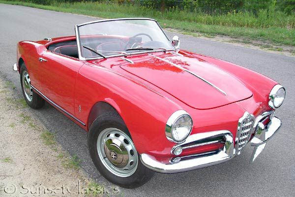 the wonderfully dainty Alfa Romeo Veloce Spider of 1959
