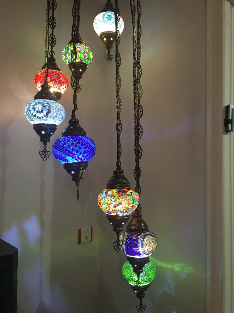Turkish mosaic lamp water drop style chandelier in 8 globes 8 ball turkish mosaic chandelier aloadofball Images