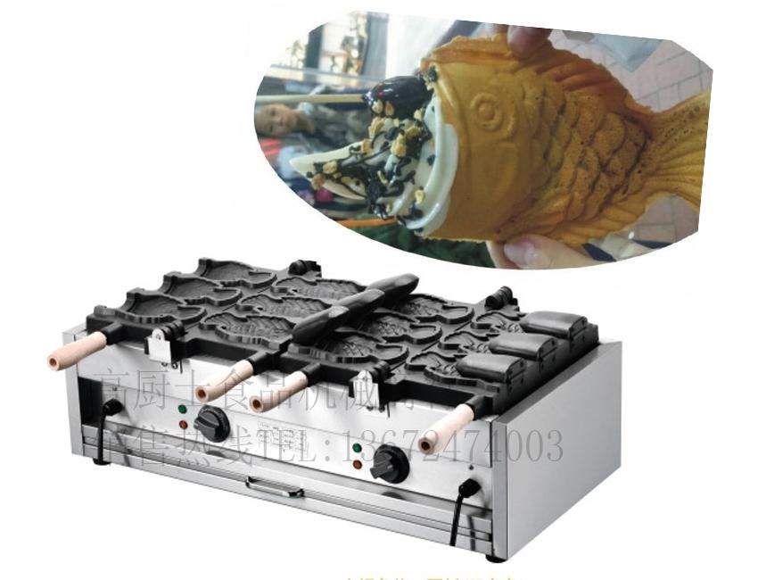 680.00$  Buy now - http://alick6.worldwells.pw/go.php?t=32606767932 - free shipping 110v 220v  Electric 6 pcs Ice cream taiyaki machine Fish waffle maker 680.00$