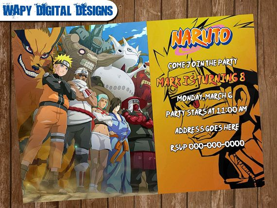 Naruto digital party invitation customize invite birthday digital naruto digital party invitation customize invite birthday stopboris Choice Image