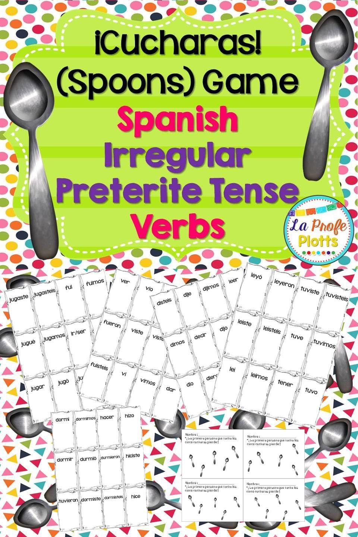 Cucharas Spoons Game For Irregular Preterite Verbs Spanish Lessons For Kids Spanish Lessons Spanish Lesson Plans [ 1440 x 960 Pixel ]