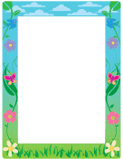 spring page borders for microsoft word