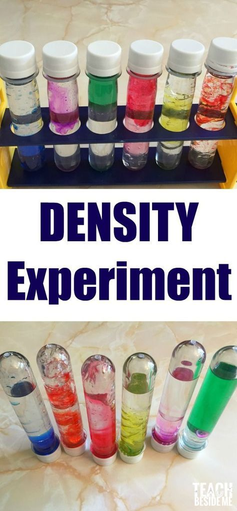 Density Experiment- mixing colors and liquids via @karyntripp