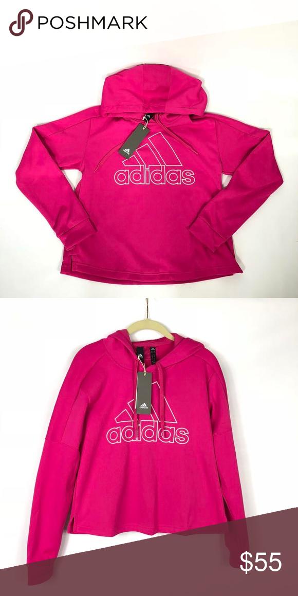 Pullover · Check · NWT Adidas Logo Hoodie Sweatshirt Magenta Pink Brand New  With Tags! Woman s Adidias 3 Stripe c71c50fb4c