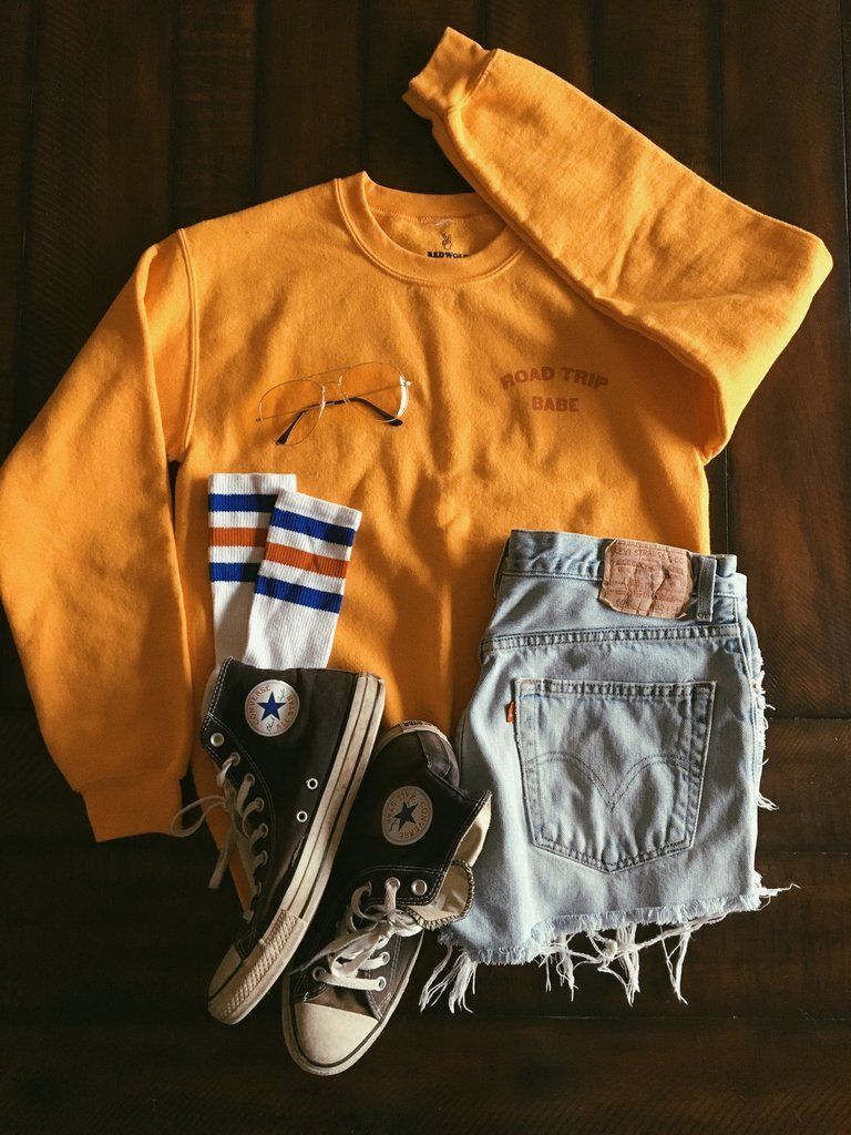 ROAD TRIP BABE SWEATSHIRT | Retro outfits, Cool outfits, Fashion