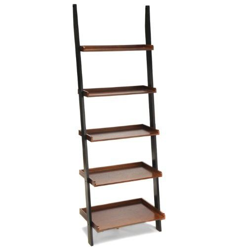 Convenience Concepts French Country Bookshelf Ladder Black And Cherry