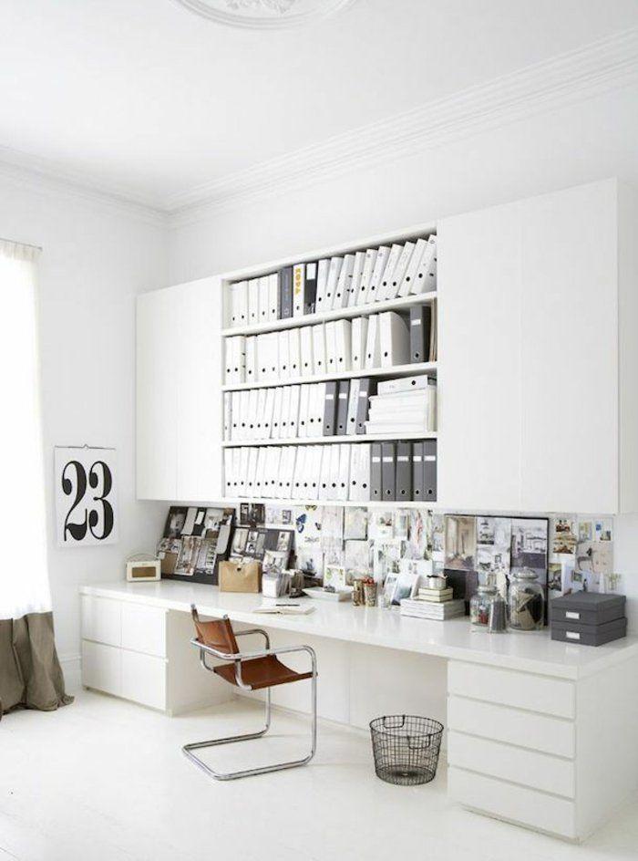 Lieblich Schreibtisch Komplett Weiß Hochglanz Aktenordner, Schreibtisch Weiss, Arbeitszimmer  Einrichten, Büro Zimmer, Arbeitsbereiche